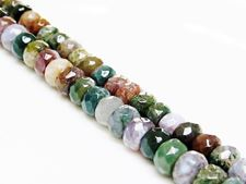 Picture of 5x8 mm, rondelle, gemstone beads, Fancy jasper, natural, faceted