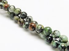 Picture of 6x6 mm, round, gemstone beads, African turquoise, natural
