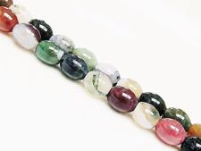 Picture of 8x10 mm, rice, gemstone beads, Fancy jasper, natural