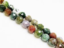 Image de 8x8 mm, perles rondes, pierres gemmes, jaspe fantaisie, naturel, à facettes