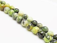 Image de 8x8 mm, perles rondes, pierres gemmes, chrysoprase chinoise, naturelle