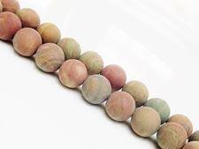 Afbeelding van 10x10 mm, rond, edelsteen kralen, gestreepte jaspis, natuurlijk, mat