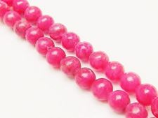 Image de 8x8 mm, perles rondes, pierres gemmes, jaspe rayé, rouge amarante vif