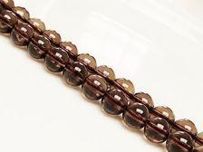 Image de 8x8 mm, perles rondes, pierres gemmes, quartz fumé, naturel, qualité A
