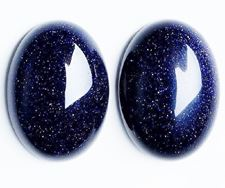 Picture of 13x18 mm, oval, gemstone cabochons, goldstone, night blue