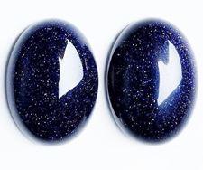 Image de 13x18 mm, ovale, cabochons de pierres gemmes, rivière d'or, bleu nuit