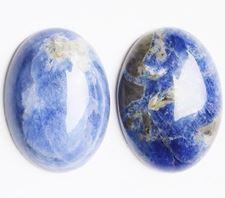 Image de 18x25 mm, ovale, cabochons de pierres gemmes, sodalite, naturelle