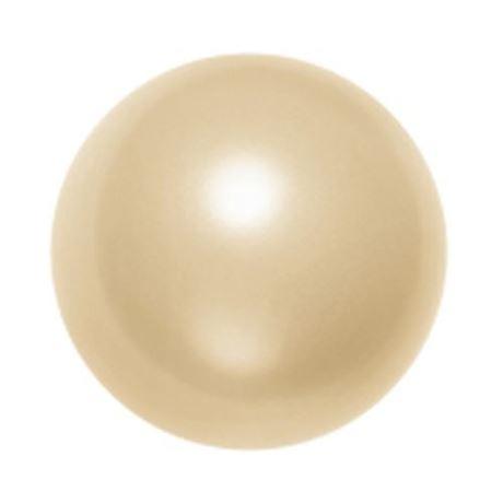 Image de 12x12 mm, perles rondes de cristal Swarovski®, nacré, couleur doré clair