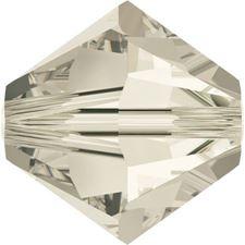 Image de 4 mm, perles rondes de cristal Swarovski®, cristal nuance argent