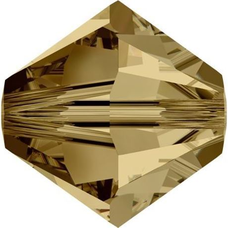 Image de 4 mm, perles rondes de cristal Swarovski®, brun topaze Colorado pâle
