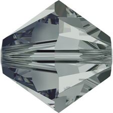 Image de 4 mm, perles rondes de cristal Swarovski®, noir diamant