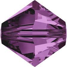 Image de 4 mm, perles rondes de cristal Swarovski®, violet améthyste