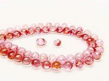 Image de 5x7 mm, perles de verre pressé tchèque, gouttes, transparentes, lustrées rose topaze pâle