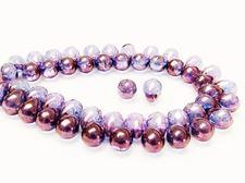Image de 5x7 mm, perles de verre pressé tchèque, gouttes, transparentes, lustrées violet alexandrite