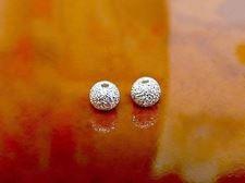 Afbeelding van 4x4 mm, rond, kralen in legering, sterrenstof, verzilverd