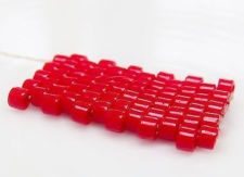Picture of DB0723 Delica beads, size 11/0, bright cranberry red, opaque