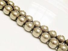 Image de 10x10 mm, perles rondes, pierres gemmes, pyrite, qualité A