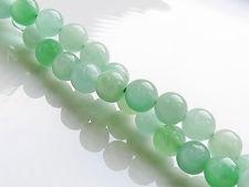 Afbeelding van 6x6 mm, rond, edelsteen kralen, licht groene Birmese jadeïet, natuurlijk