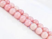Afbeelding van 8x8 mm, rond, edelsteen kralen, gewone opaal, roze, natuurlijk