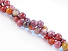 Picture of 6x6 mm, round, gemstone beads, Arrábida brecciated jasper, natural