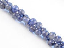 Afbeelding van 6x6 mm, rond, edelsteen kralen, ioliet, indigo blauw, natuurlijk