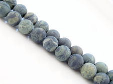 Picture of 8x8 mm, round, gemstone beads, crocodile or Kambamba jasper , natural, frosted