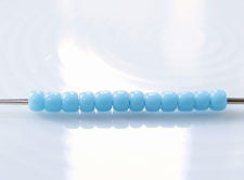 Picture of Japanese seed beads, Toho, size 11/0, light turquoise blue, opaque