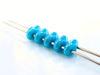 Afbeelding van 5x2.5 mm, SuperDuo kralen, Tsjechisch glas, 2 gaatjes, ondoorzichtig, diep turkoois blauwe glans