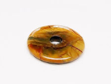 Picture of Focal pendant, 40 mm, donut shape, gemstone, Red Creek jasper