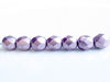 Picture of 6x6 mm, Czech faceted round beads, blackened pearl or silvery purple, opaque, sueded gold