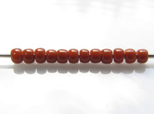 Picture of Japanese seed beads, Toho, size 11/0, terracotta or brown orange, opaque