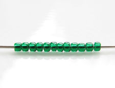 Picture of Japanese seed beads, Toho, size 11/0, emerald green, transparent