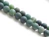 Image de 8x8 mm, perles rondes, pierres gemmes, agate mousse, verte, naturelle, dépolie