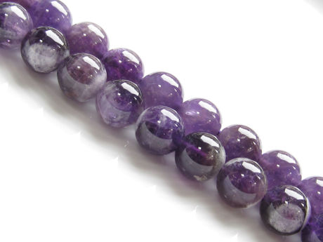 Picture of 10x10 mm, round, gemstone beads, amethyst sage agate, natural